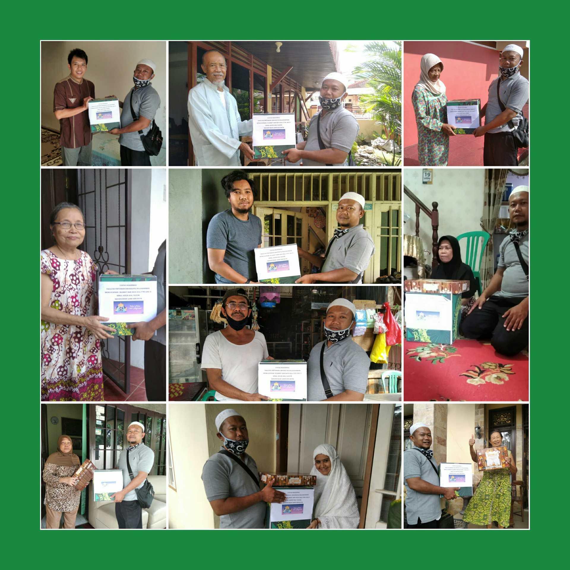 Jelang Lebaran, Fakultas Pertanian UNMUL Bagikan Paket